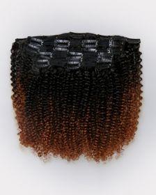Couleur ombrée Extensions de cheveux clips-in texture FRISÉS
