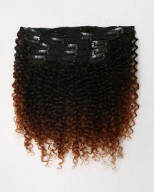 Couleur ombrée Extensions de cheveux clips-in texture bouclée