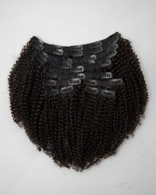 TÊTE COMPLÈTE Extensions de cheveux clips-in texture frisée