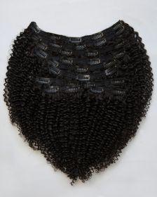 TÊTE COMPLÈTE Extensions de cheveux clips-in texture bouclée