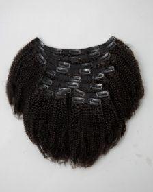 TÊTE COMPLÈTE Extensions de cheveux clips-in texture crépue