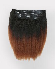 Couleur ombrée Extensions de cheveux clips-in texture crépue BLOW OUT
